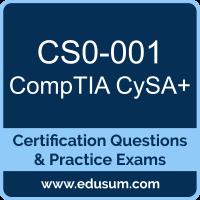 CySA+ Dumps, CySA+ PDF, CS0-001 PDF, CySA+ Braindumps, CS0-001 Questions PDF, CompTIA CS0-001 VCE, CompTIA CySA Plus Dumps