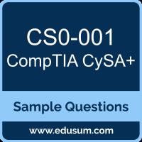 CySA+ Dumps, CS0-001 Dumps, CS0-001 PDF, CySA+ VCE, CompTIA CS0-001 VCE, CompTIA CySA Plus PDF