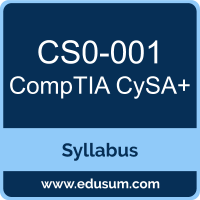 CompTIA CS0-001 Certification Syllabus and Prep Guide
