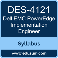 PowerEdge Implementation Engineer PDF, DES-4121 Dumps, DES-4121 PDF, PowerEdge Implementation Engineer VCE, DES-4121 Questions PDF, Dell EMC DES-4121 VCE