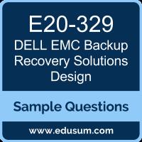 Backup Recovery Solutions Design Dumps, E20-329 Dumps, E20-329 PDF, Backup Recovery Solutions Design VCE, Dell EMC E20-329 VCE, Dell EMC DECS-TA PDF, Dell EMC EMCTA PDF