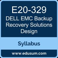 Backup Recovery Solutions Design PDF, E20-329 Dumps, E20-329 PDF, Backup Recovery Solutions Design VCE, E20-329 Questions PDF, Dell EMC E20-329 VCE, Dell EMC DECS-TA Dumps, Dell EMC DECS-TA PDF, Dell EMC EMCTA Dumps, Dell EMC EMCTA PDF