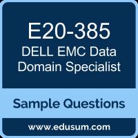 Data Domain Specialist Dumps, E20-385 Dumps, E20-385 PDF, Data Domain Specialist VCE, Dell EMC E20-385 VCE, Dell EMC DCS-IE PDF, Dell EMC EMCIE PDF