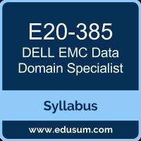 Data Domain Specialist PDF, E20-385 Dumps, E20-385 PDF, Data Domain Specialist VCE, E20-385 Questions PDF, Dell EMC E20-385 VCE, Dell EMC DCS-IE Dumps, Dell EMC DECS-IE PDF, Dell EMC EMCIE Dumps, Dell EMC EMCIE PDF