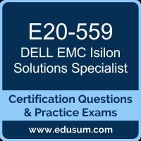 Isilon Solutions Specialist Dumps, Isilon Solutions Specialist PDF, E20-559 PDF, Isilon Solutions Specialist Braindumps, E20-559 Questions PDF, Dell EMC E20-559 VCE, Dell EMC DECS-SA Dumps, Dell EMC EMCSA Dumps,
