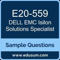 Isilon Solutions Specialist Dumps, E20-559 Dumps, E20-559 PDF, Isilon Solutions Specialist VCE, Dell EMC E20-559 VCE, Dell EMC DECS-SA PDF, Dell EMC EMCSA PDF