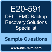 Backup Recovery Solutions Specialist Dumps, E20-591 Dumps, E20-591 PDF, Backup Recovery Solutions Specialist VCE, Dell EMC E20-591 VCE, Dell EMC DECS-TA PDF, Dell EMC EMCTA PDF