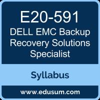 Backup Recovery Solutions Specialist PDF, E20-591 Dumps, E20-591 PDF, Backup Recovery Solutions Specialist VCE, E20-591 Questions PDF, Dell EMC E20-591 VCE, Dell EMC DECS-TA Dumps, Dell EMC DECS-TA PDF, Dell EMC EMCTA Dumps, Dell EMC EMCTA PDF