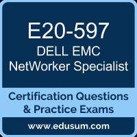 NetWorker Specialist Dumps, NetWorker Specialist PDF, E20-597 PDF, NetWorker Specialist Braindumps, E20-597 Questions PDF, Dell EMC E20-597 VCE, Dell EMC DECS-SA Dumps, Dell EMC EMCSA Dumps,