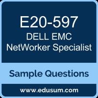 NetWorker Specialist Dumps, E20-597 Dumps, E20-597 PDF, NetWorker Specialist VCE, Dell EMC E20-597 VCE, Dell EMC DECS-SA PDF, Dell EMC DCS-SA PDF