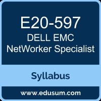 NetWorker Specialist PDF, E20-597 Dumps, E20-597 PDF, NetWorker Specialist VCE, E20-597 Questions PDF, Dell EMC E20-597 VCE, Dell EMC DECS-SA Dumps, Dell EMC DECS-SA PDF, Dell EMCDCS-SA Dumps, Dell EMC DCS-SA PDF