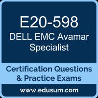 Avamar Specialist Dumps, Avamar Specialist PDF, E20-598 PDF, Avamar Specialist Braindumps, E20-598 Questions PDF, Dell EMC E20-598 VCE, Dell EMC DECS-SA Dumps, Dell EMC EMCSA Dumps,