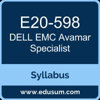 Avamar Specialist PDF, E20-598 Dumps, E20-598 PDF, Avamar Specialist VCE, E20-598 Questions PDF, Dell EMC E20-598 VCE, Dell EMC DECS-SA Dumps, Dell EMC DECS-SA PDF, Dell EMC DCS-SA Dumps, Dell EMC DCS-SA PDF