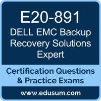 Backup Recovery Solutions Expert Dumps, Backup Recovery Solutions Expert PDF, E20-891 PDF, Backup Recovery Solutions Expert Braindumps, E20-891 Questions PDF, Dell EMC E20-891 VCE, Dell EMC EMCTAe Dumps, Dell EMC EMCTAe Dumps,