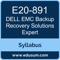 Backup Recovery Solutions Expert PDF, E20-891 Dumps, E20-891 PDF, Backup Recovery Solutions Expert VCE, E20-891 Questions PDF, Dell EMC E20-891 VCE, Dell EMC EMCTAe Dumps, Dell EMC EMCTAe PDF, Dell EMC EMCTAe Dumps, Dell EMC EMCTAe PDF