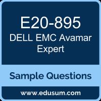 Avamar Expert Dumps, E20-895 Dumps, E20-895 PDF, Avamar Expert VCE, Dell EMC E20-895 VCE, Dell EMC DECE-IE PDF, Dell EMC EMCIEe PDF