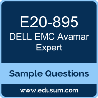 Avamar Expert Dumps, E20-895 Dumps, E20-895 PDF, Avamar Expert VCE, Dell EMC E20-895 VCE, Dell EMC DECE-IE PDF, Dell EMC DCE-IE PDF