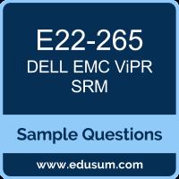 ViPR SRM Dumps, E22-265 Dumps, E22-265 PDF, ViPR SRM VCE, Dell EMC E22-265 VCE, Dell EMC DEC-SRM PDF, Dell EMC EMCSRM PDF
