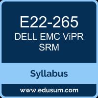 ViPR SRM PDF, E22-265 Dumps, E22-265 PDF, ViPR SRM VCE, E22-265 Questions PDF, Dell EMC E22-265 VCE, Dell EMC DEC-SRM Dumps, Dell EMC DEC-SRM PDF, Dell EMC EMCSRM Dumps, Dell EMC EMCSRM PDF