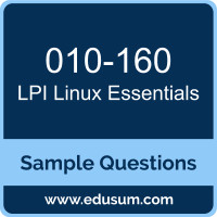 Linux Essentials Dumps, 010-160 Dumps, 010-160 PDF, Linux Essentials VCE, LPI 010-160 VCE