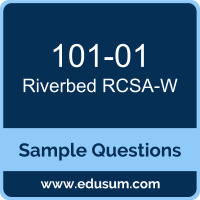 RCSA-W Dumps, 101-01 Dumps, 101-01 PDF, RCSA-W VCE, Riverbed 101-01 VCE, Riverbed WAN Optimization Associate PDF