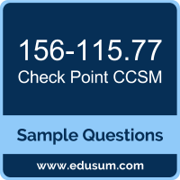 CCSM Dumps, 156-115.77 Dumps, 156-115.77 PDF, CCSM VCE, Check Point 156-115.77 VCE, Check Point CCSM R77 PDF