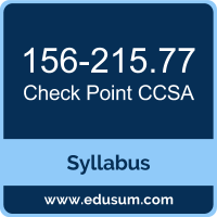 Check Point CCSA Certification Syllabus and Study Guide