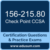CCSA Dumps, CCSA PDF, 156-215.80 PDF, CCSA Braindumps, 156-215.80 Questions PDF, Check Point 156-215.80 VCE, Check Point CCSA R80 Dumps