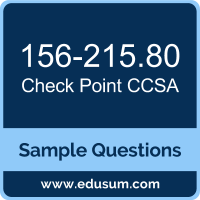 Free Check Point CCSA (CCSA R80) Sample Questions and Study