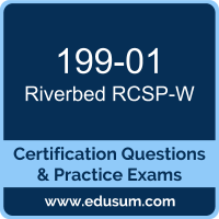 RCSP-W Dumps, RCSP-W PDF, 199-01 PDF, RCSP-W Braindumps, 199-01 Questions PDF, Riverbed 199-01 VCE, Riverbed WAN Optimization Professional Dumps