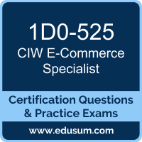 E-Commerce Specialist Dumps, E-Commerce Specialist PDF, 1D0-525 PDF, E-Commerce Specialist Braindumps, 1D0-525 Questions PDF, CIW 1D0-525 VCE