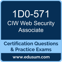 Web Security Associate Dumps, Web Security Associate PDF, 1D0-571 PDF, Web Security Associate Braindumps, 1D0-571 Questions PDF, CIW 1D0-571 VCE