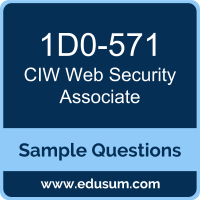Web Security Associate Dumps, 1D0-571 Dumps, 1D0-571 PDF, Web Security Associate VCE, CIW 1D0-571 VCE