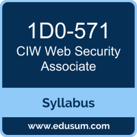 Web Security Associate PDF, 1D0-571 Dumps, 1D0-571 PDF, Web Security Associate VCE, 1D0-571 Questions PDF, CIW 1D0-571 VCE