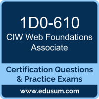 Web Foundations Associate Dumps, Web Foundations Associate PDF, 1D0-610 PDF, Web Foundations Associate Braindumps, 1D0-610 Questions PDF, CIW 1D0-610 VCE