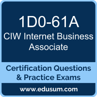 Internet Business Associate Dumps, Internet Business Associate PDF, 1D0-61A PDF, Internet Business Associate Braindumps, 1D0-61A Questions PDF, CIW 1D0-61A VCE