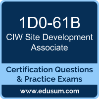 Site Development Associate Dumps, Site Development Associate PDF, 1D0-61B PDF, Site Development Associate Braindumps, 1D0-61B Questions PDF, CIW 1D0-61B VCE