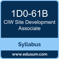 Site Development Associate PDF, 1D0-61B Dumps, 1D0-61B PDF, Site Development Associate VCE, 1D0-61B Questions PDF, CIW 1D0-61B VCE