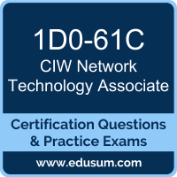 Network Technology Associate Dumps, Network Technology Associate PDF, 1D0-61C PDF, Network Technology Associate Braindumps, 1D0-61C Questions PDF, CIW 1D0-61C VCE