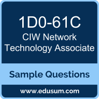 Network Technology Associate Dumps, 1D0-61C Dumps, 1D0-61C PDF, Network Technology Associate VCE, CIW 1D0-61C VCE