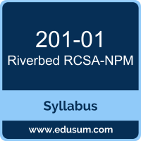 RCSA-NPM PDF, 201-01 Dumps, 201-01 PDF, RCSA-NPM VCE, 201-01 Questions PDF, Riverbed 201-01 VCE, Riverbed Network Performance Management Associate Dumps, Riverbed Network Performance Management Associate PDF