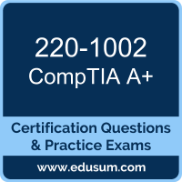 A+ Dumps, A+ PDF, 220-1002 PDF, A+ Braindumps, 220-1002 Questions PDF, CompTIA 220-1002 VCE, CompTIA A Plus (Core 2) Dumps
