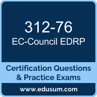EDRP Dumps, EDRP PDF, 312-76 PDF, EDRP Braindumps, 312-76 Questions PDF, EC-Council 312-76 VCE, EC-Council EDRP v3 Dumps
