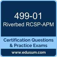 RCSP-APM Dumps, RCSP-APM PDF, 499-01 PDF, RCSP-APM Braindumps, 499-01 Questions PDF, Riverbed 499-01 VCE, Riverbed Application Performance Management Professional Dumps