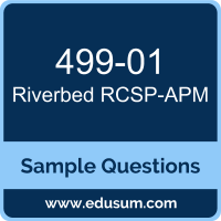 RCSP-APM Dumps, 499-01 Dumps, 499-01 PDF, RCSP-APM VCE, Riverbed 499-01 VCE, Riverbed Application Performance Management Professional PDF