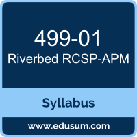 RCSP-APM PDF, 499-01 Dumps, 499-01 PDF, RCSP-APM VCE, 499-01 Questions PDF, Riverbed 499-01 VCE, Riverbed Application Performance Management Professional Dumps, Riverbed Application Performance Management Professional PDF
