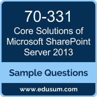 Core Solutions of Microsoft SharePoint Server 2013 Dumps, 70-331 Dumps, 70-331 PDF, Core Solutions of Microsoft SharePoint Server 2013 VCE, Microsoft 70-331 VCE, Microsoft MCSE Productivity PDF