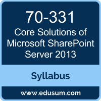 Core Solutions of Microsoft SharePoint Server 2013 PDF, 70-331 Dumps, 70-331 PDF, Core Solutions of Microsoft SharePoint Server 2013 VCE, 70-331 Questions PDF, Microsoft 70-331 VCE, Microsoft MCSE Productivity Dumps, Microsoft MCSE Productivity PDF
