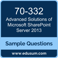 Advanced Solutions of Microsoft SharePoint Server 2013 Dumps, 70-332 Dumps, 70-332 PDF, Advanced Solutions of Microsoft SharePoint Server 2013 VCE, Microsoft 70-332 VCE, Microsoft MCSE Productivity PDF