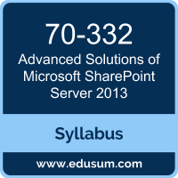 Advanced Solutions of Microsoft SharePoint Server 2013 PDF, 70-332 Dumps, 70-332 PDF, Advanced Solutions of Microsoft SharePoint Server 2013 VCE, 70-332 Questions PDF, Microsoft 70-332 VCE, Microsoft MCSE Productivity Dumps, Microsoft MCSE Productivity PDF
